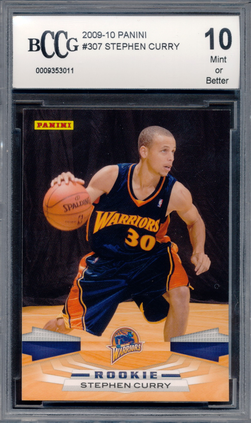 Details About 2009 10 Panini 307 Stephen Curry Rookie Card Graded Bccg 10