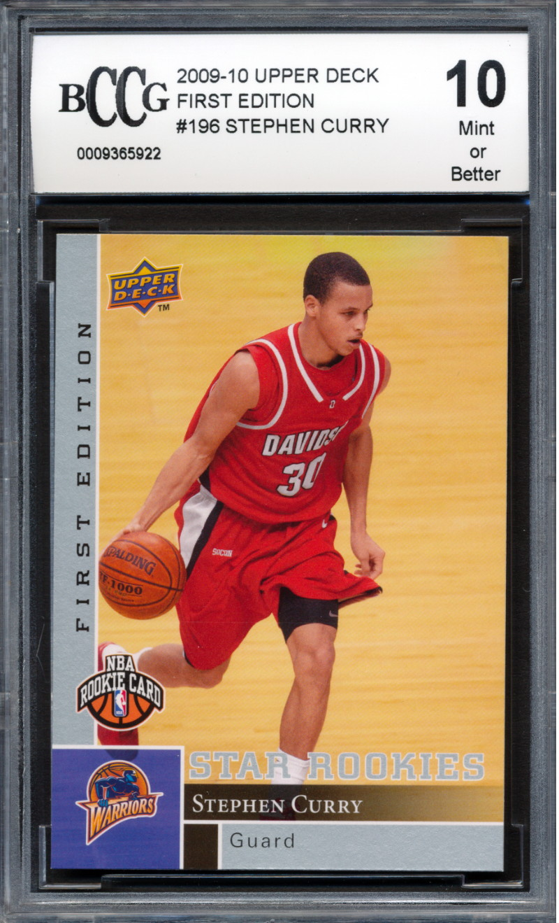 Details About 2009 10 Upper Deck First Edition 196 Stephen Curry Rookie Card Graded Bccg 10