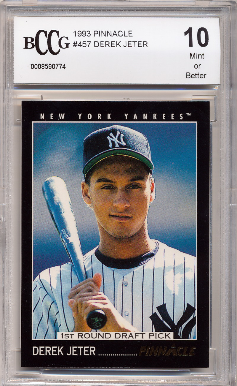 Details About 1993 Pinnacle Derek Jeter Rookie Card Graded Bccg 10