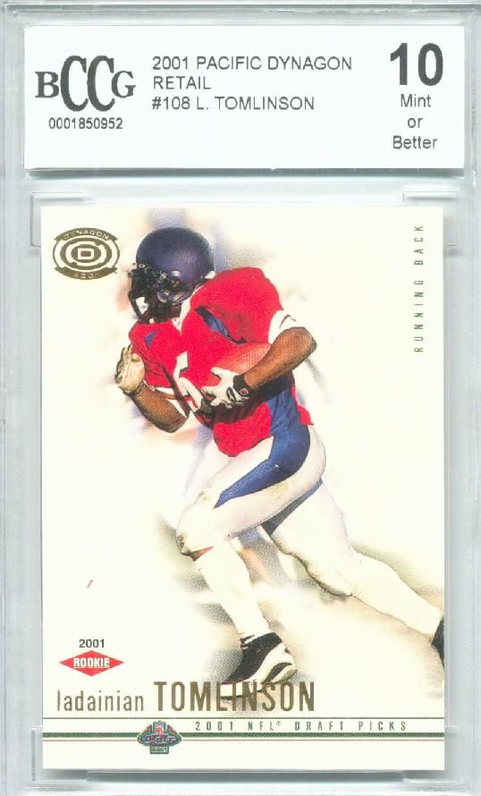 Verzamelkaarten, ruilkaarten 2001 Pacific Dynagon Retail #108 LaDainian Tomlinson San Diego Chargers RC Card