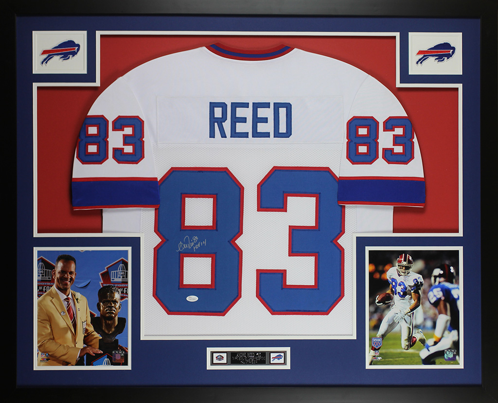 timeless design ac279 5ca42 Details about Andre Reed Autographed & Framed White Buffalo Bills Jersey  JSA COA D5-L