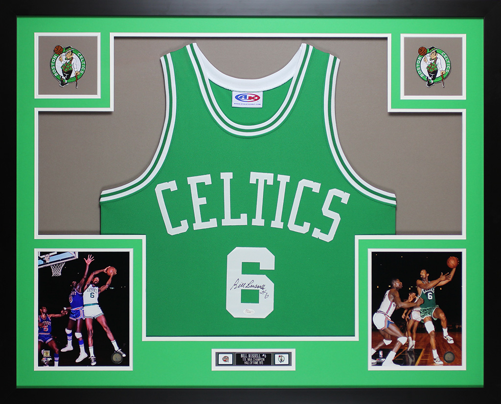 2ec17517709e Bill Russell Autographed and Framed Green Celtics Auto JSA COA