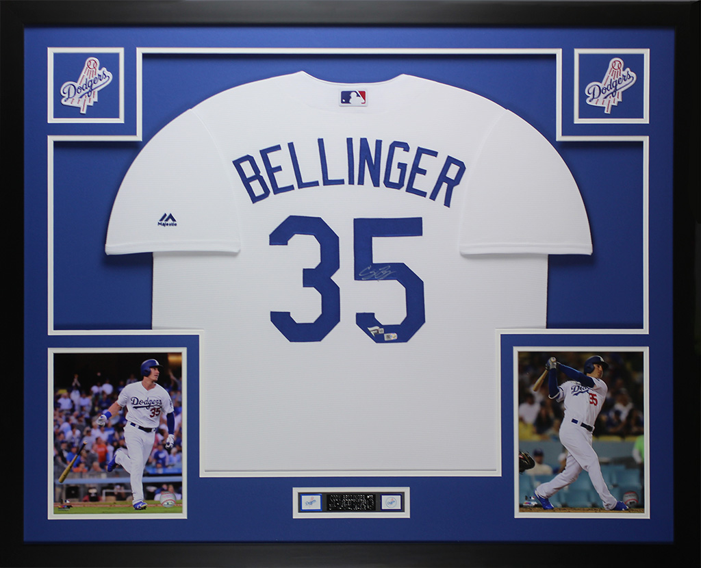 Cody Bellinger Autographed and Framed White Dodgers Jersey Auto Fanatics  COA D1 6e64bbcc282