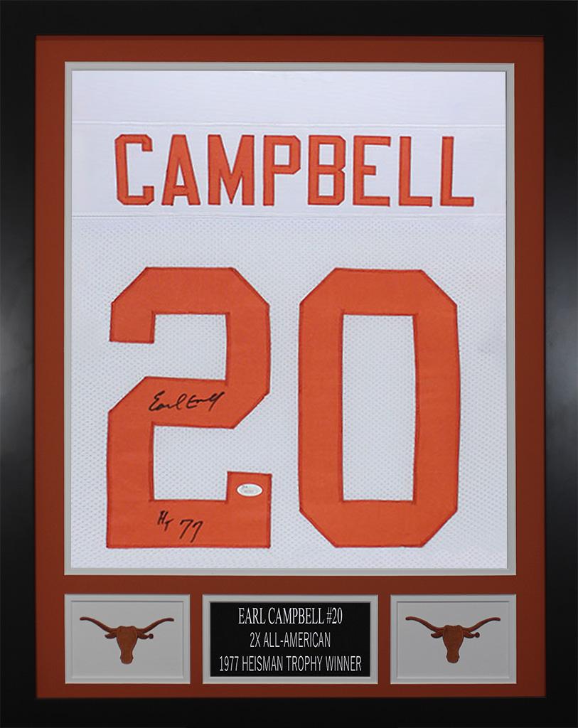 new concept 8e62d bc7fe Details about Earl Campbell Autographed
