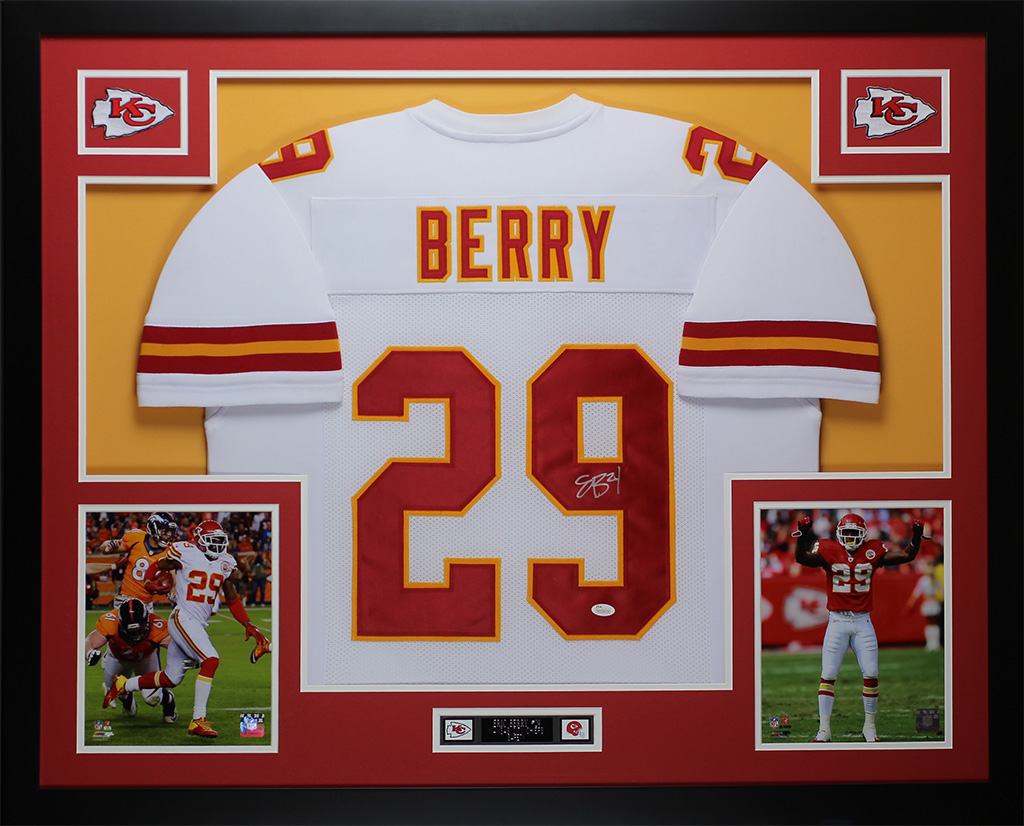 eeca9f0ad Details about Eric Berry Autographed   Framed White Chiefs JSA COA D1-L