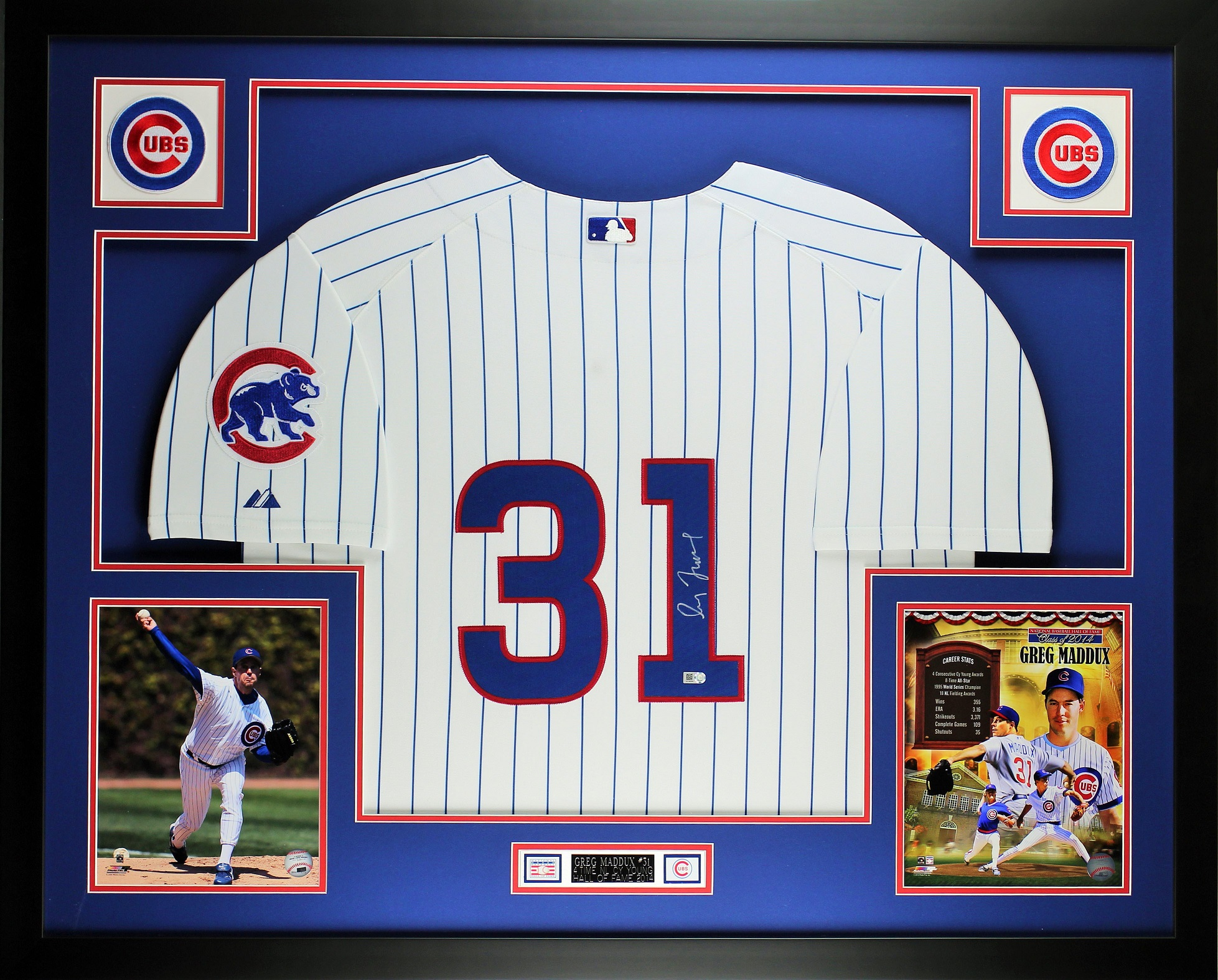 Greg Maddux Autographed and Framed White P/S Cubs Jersey Auto MLB ...