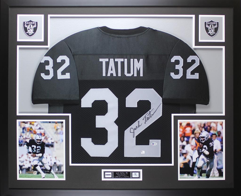 online store bbe4f 8ca6c Details about Jack Tatum Autographed & Framed Black Raiders Jersey Auto  Beckett COA D1