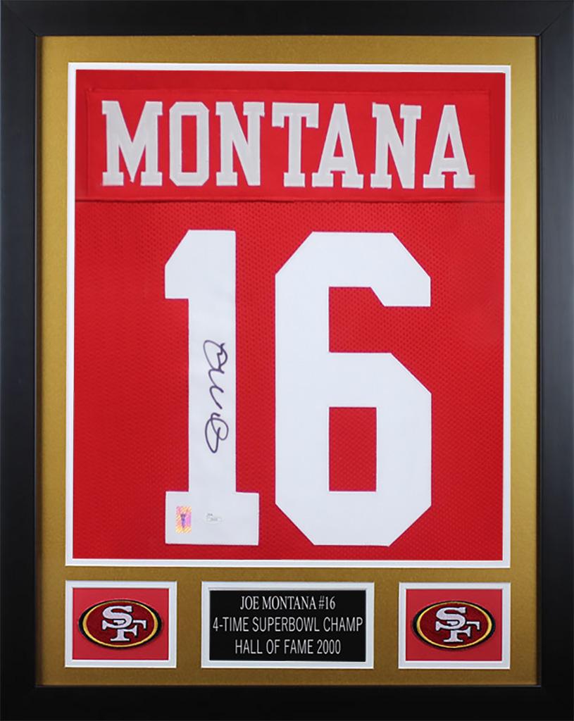 online retailer 1ebad 71101 Details about Joe Montana Autographed & Framed Red San Francisco 49ers  Jersey JSA COA D3-S
