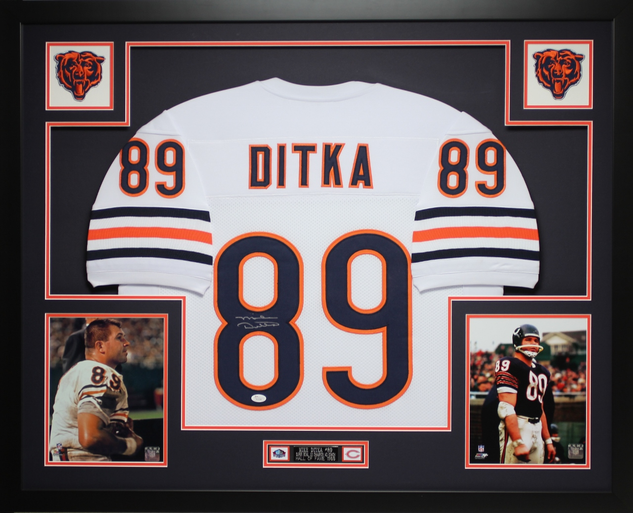 check out 70bc2 8315a Details about Mike Ditka Autographed Signed and Framed White Bears Jersey  Auto JSA COA (D3-L)