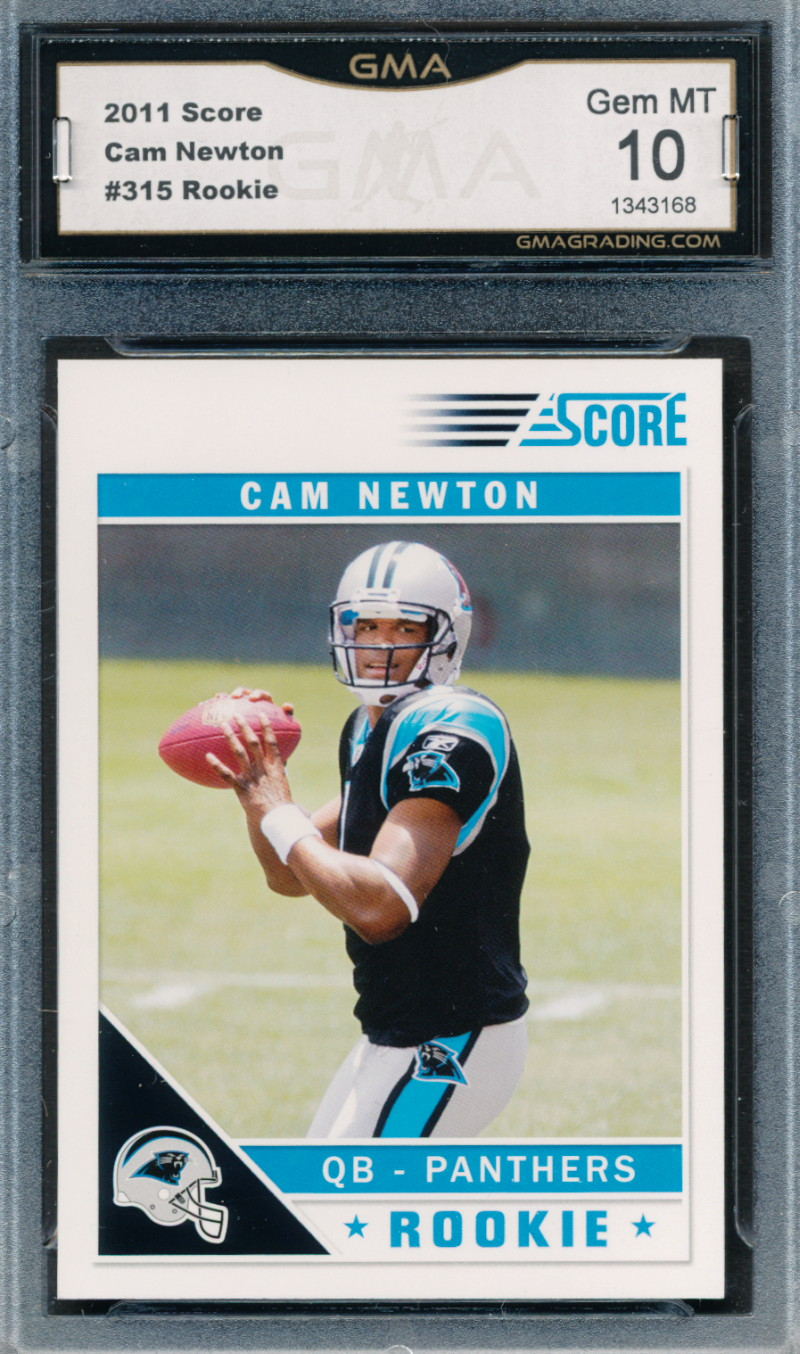 Details About 2011 Score 315 Cam Newton Rookie Card Graded Gma 10