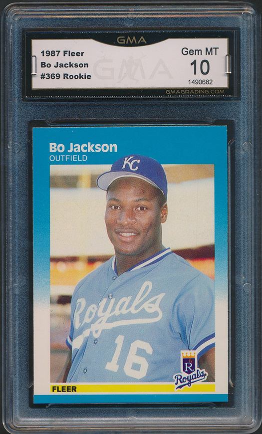 Details About 1987 Fleer 369 Bo Jackson Rookie Card Graded Gma 10