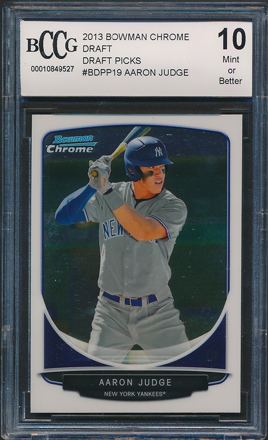 Details About 2013 Bowman Chrome Draft Bdpp19 Aaron Judge Rookie Card Graded Bccg 10