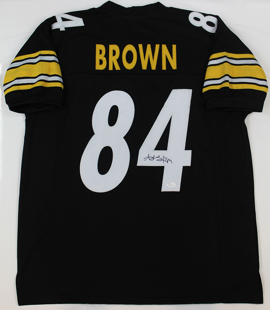 check out 7a64b cd927 Details about Antonio Brown Signed Pittsburgh Steelers Black Jersey JSA COA