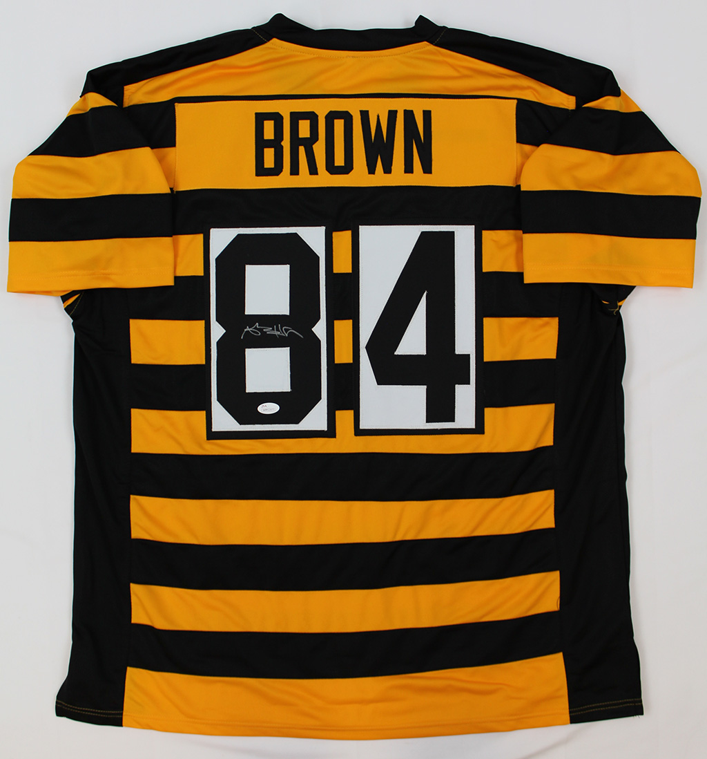 fa6c4959463 Antonio Brown Signed Pittsburgh Steelers Bumblebee Jersey JSA COA | eBay