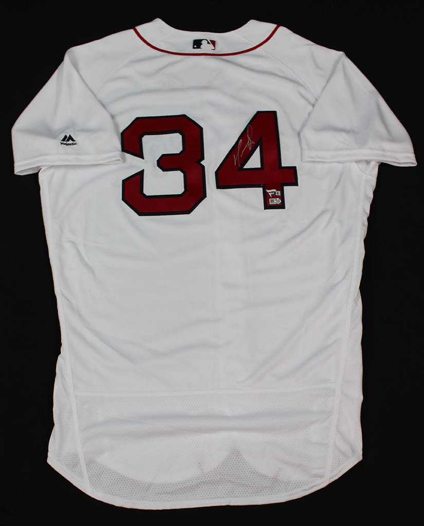 David Ortiz Signed Boston Red Sox White Jersey Fanatics COA  badc78127f5
