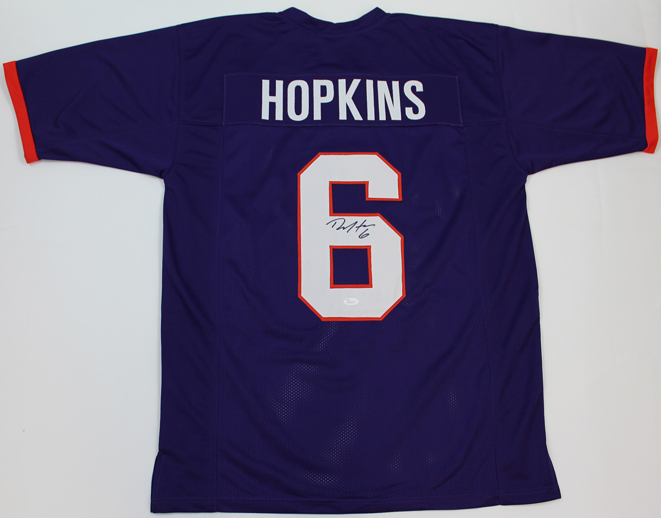 261c51674 DeAndre Hopkins Signed Clemson Tigers Purple Jersey JSA COA | eBay