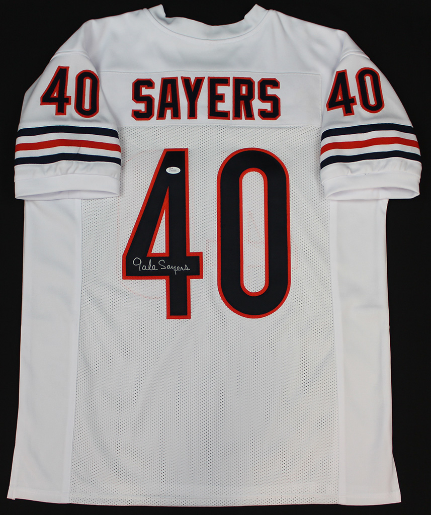 f67ae73d22d Details about Gale Sayers Signed Chicago Bears White Jersey JSA COA