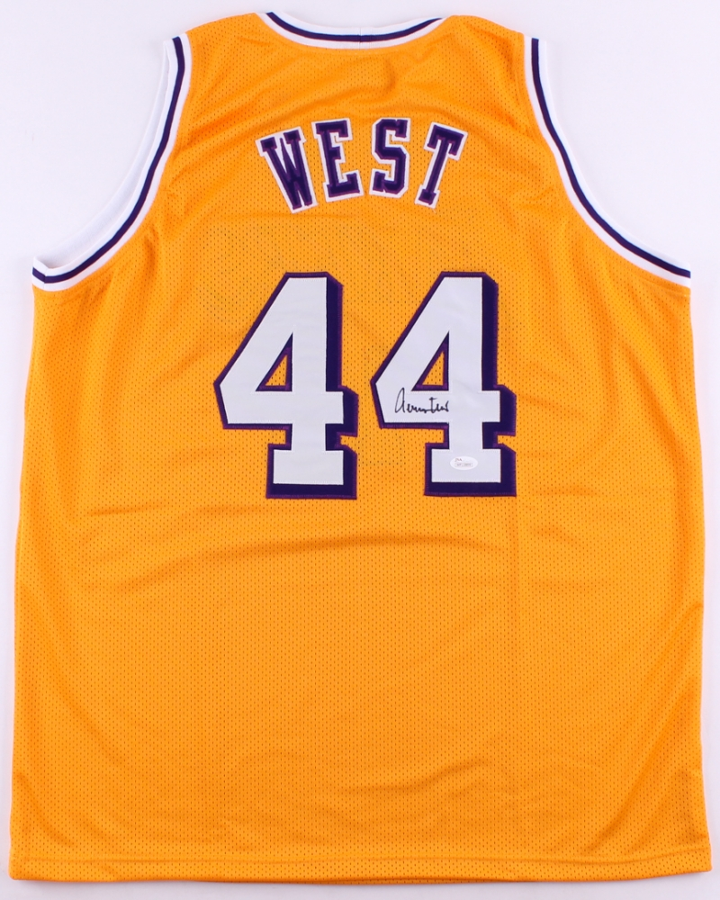 2a2ce9699 Details about Jerry West Signed Los Angeles Lakers Yellow Jersey JSA COA