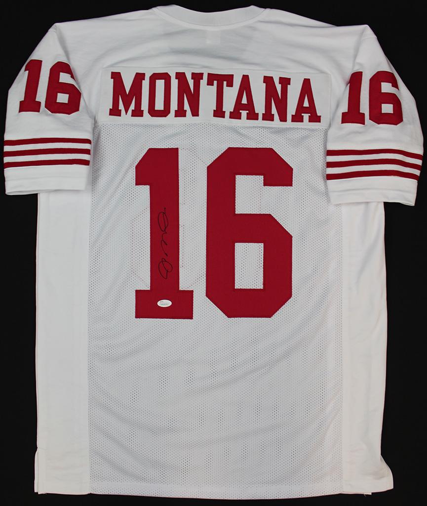 aea0926c5 Joe Montana Signed San Francisco 49ers White Jersey JSA COA