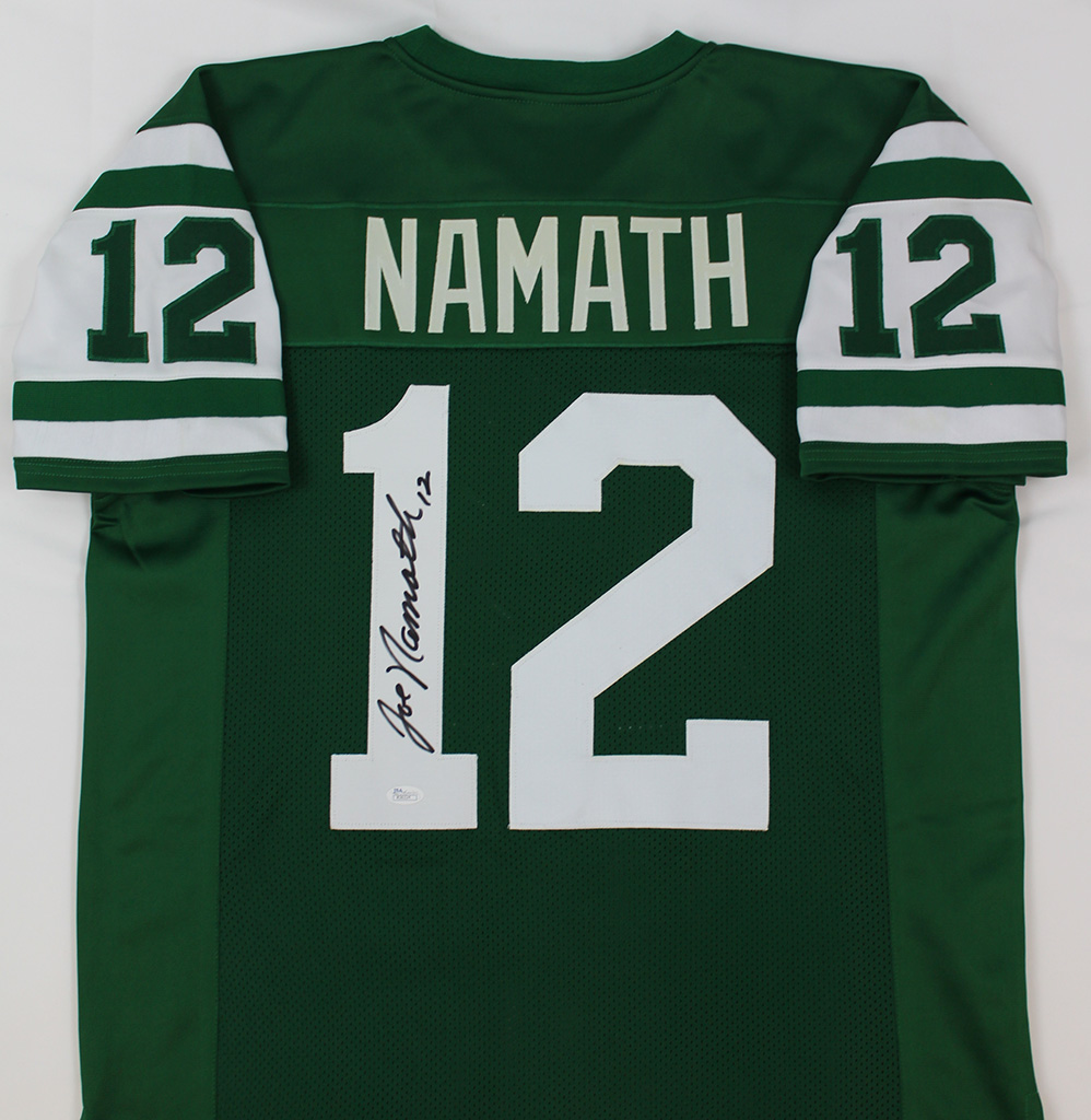 Joe Namath Signed New York Jets Green Jersey JSA COA | eBay