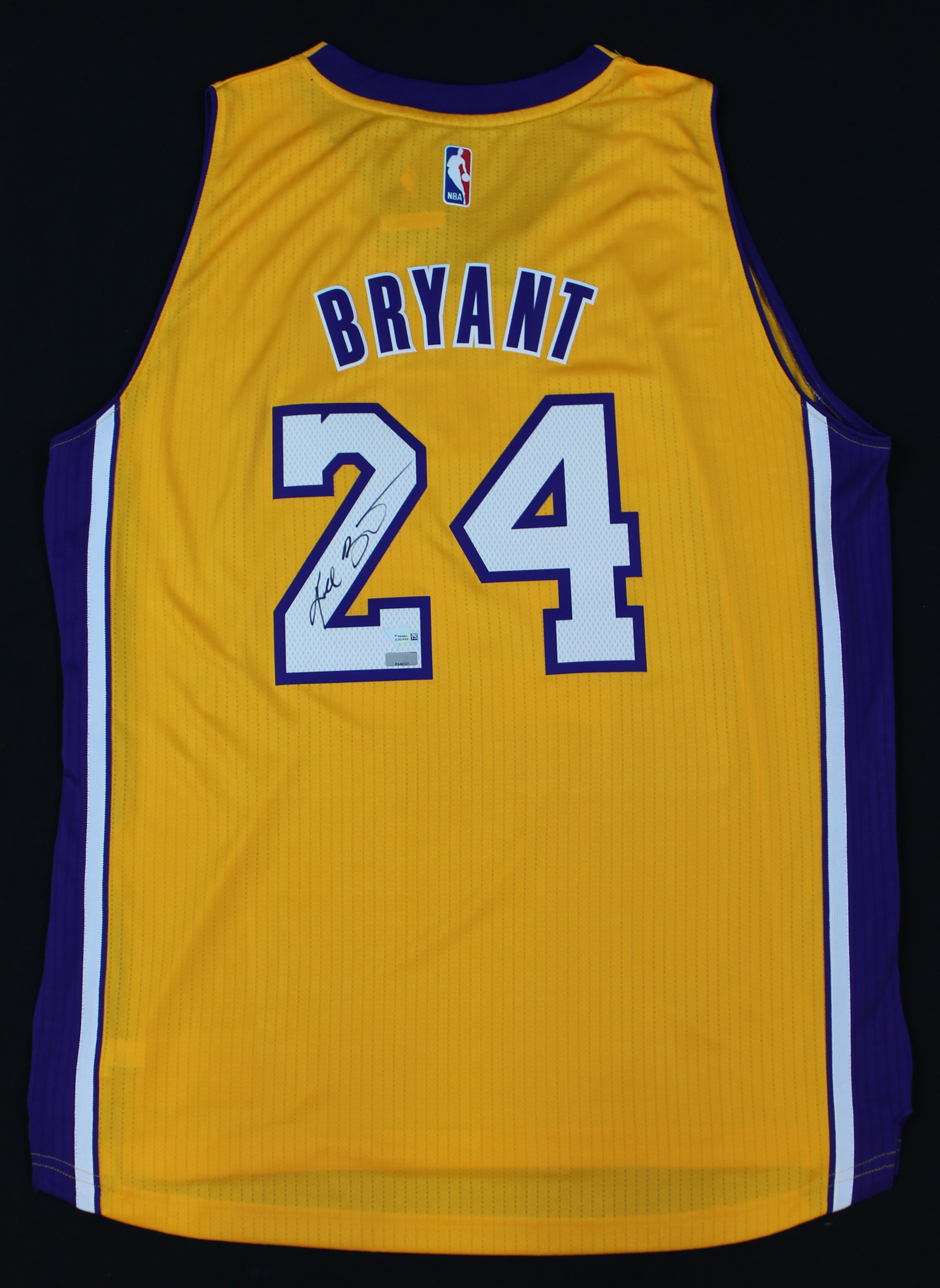 new product 8f1e7 f99fd Details about Kobe Bryant Signed Los Angeles Lakers Yellow Adidas #24  Jersey Panini COA