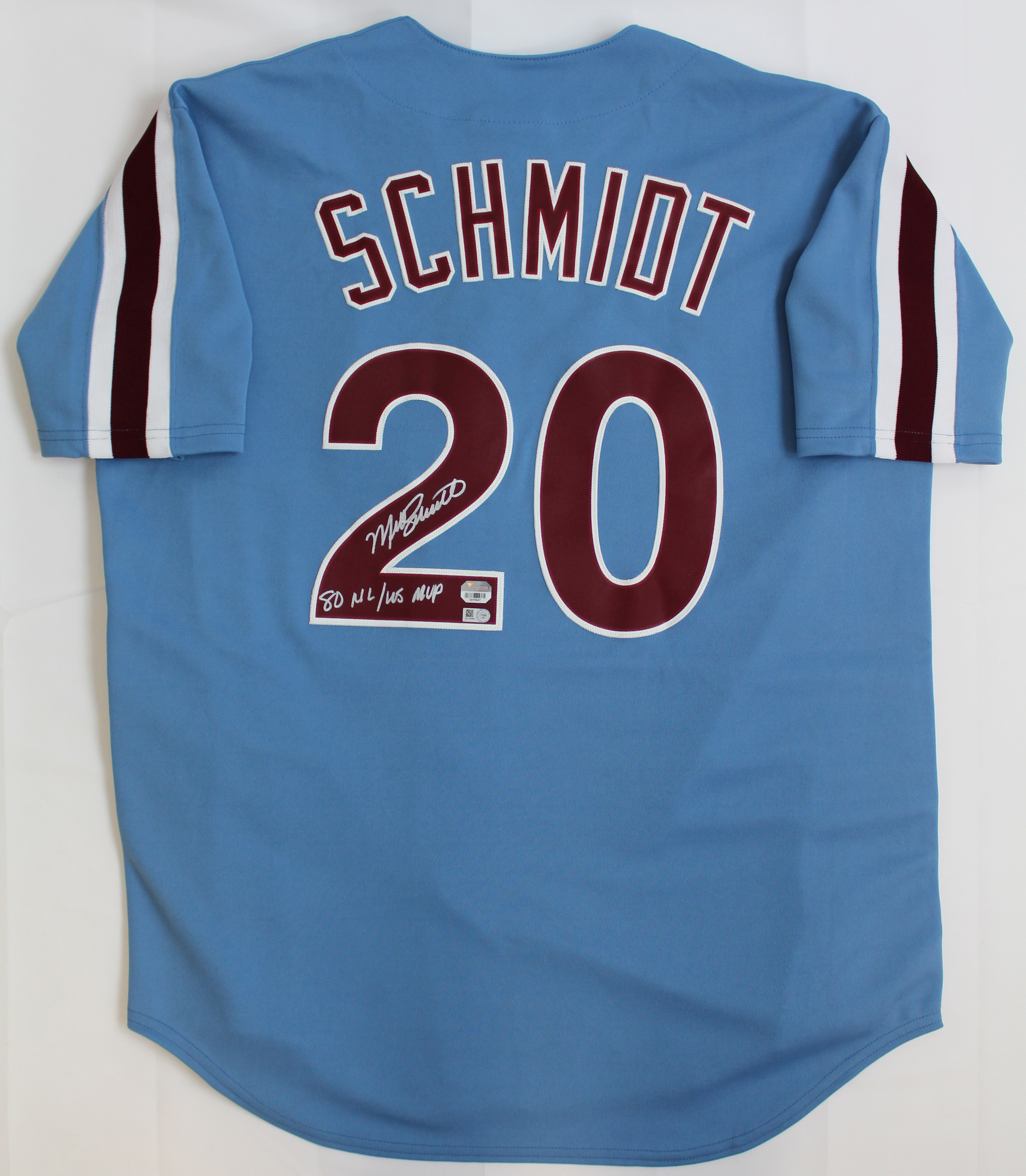 info for 2a895 57872 Details about Mike Schmidt Signed Philadelphia Phillies Blue