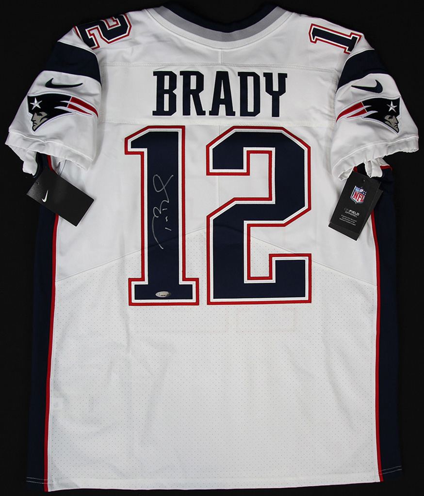 cheaper fd7ab 4fd16 Details about Tom Brady Signed New England Patriots White Nike Jersey  Tristar Certificate of A